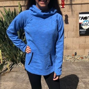 Tek Gear front pocket blue hoodie sz medium